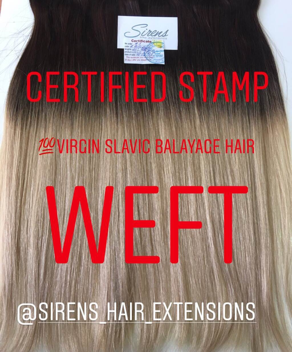 our hair extensions are certified real hair