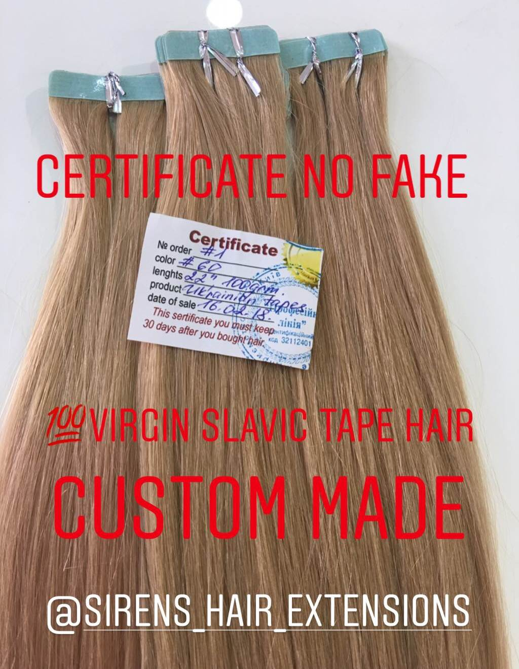 custom made slavic hair
